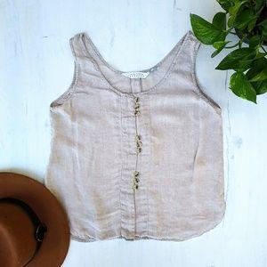 EXPRESS Linen beige top